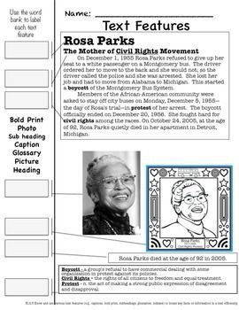 BLACK HISTORY MONTH LITERACY ONE WEEK UNIT - This unit is designed for one week. I normally do one person per day and review on Friday. Included are Rosa Parks, Martin Luther King, Jr., Jackie Robinson, and George Washington Carver.
