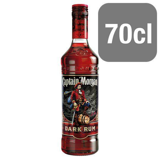 Captain Morgan Dark Rum 70cl Bottle Rum Tesco Groceries