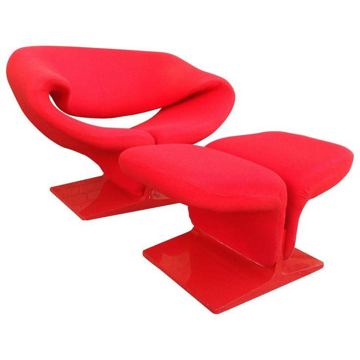 Pierre Paulin Ribbon Chair And Ottoman