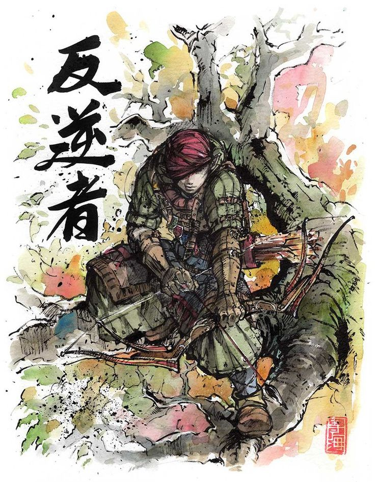 Iorveth from Witcher 2 with Japanese calligraphy by MyCKs.deviantart.com on @DeviantArt