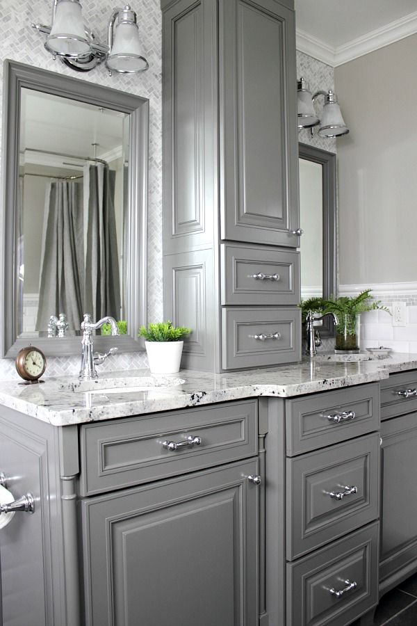 How to get the most out of your new custom bathroom cabinetry and make sure  it. Best 25  Grey bathroom cabinets ideas on Pinterest   Gray bathroom