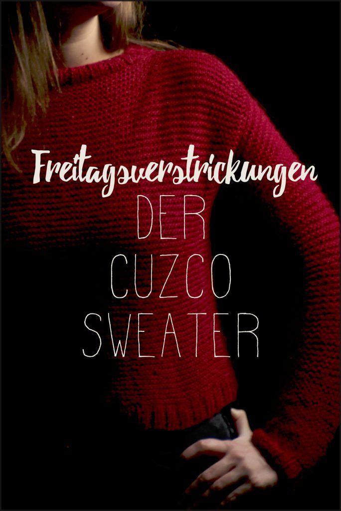 Ich habe den Cuzco Sweater von We are Knitters aus weinroter Alpaka Wolle (The Baby Wool) gestrickt - was dabei heraus kam, gibt's hier zu sehen.