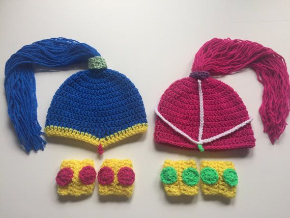 Shimmer and Shine Hats CostumesWigs Crochet by TheCranberryCreek