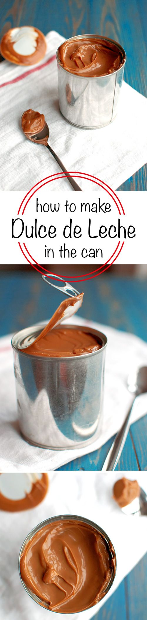 How to Make Dulce de Leche from a Can of Sweetened Condensed Milk - Super easy and really delicious! | thetoughcookie.com