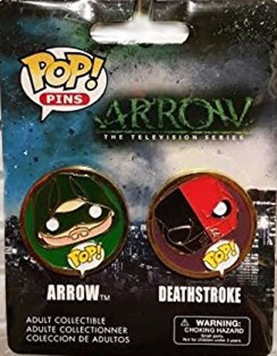 Funko POP! Pins Arrow TV Series 2-pack contains Arrow and Deathstroke   Collectibles, Pinbacks, Bobbles, Lunchboxes, Bobbleheads, Nodders   eBay!