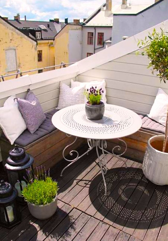 17 meilleures id es propos de d coration de terrasse d for Decoration balcon d appartement