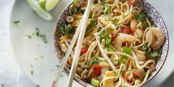Boodschappen - Pad thai met garnalen