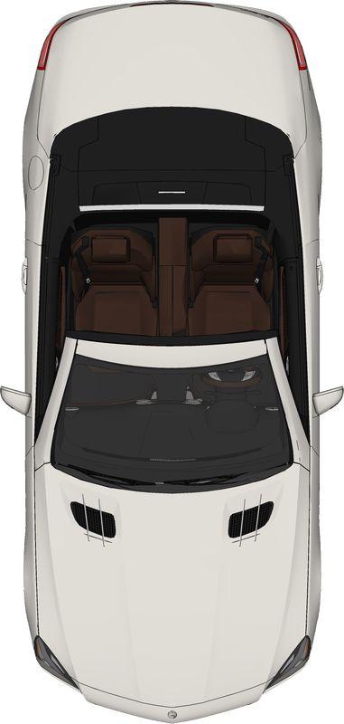 free top view PNG car mercedez