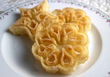 Rosettes Cookies are a Special Scandinavian Christmas Cookie: Rosettes