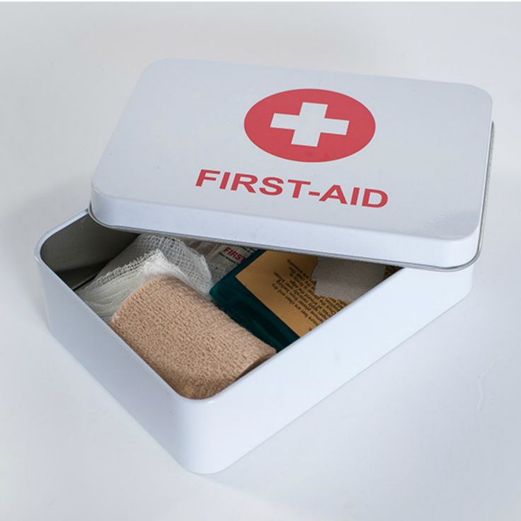 Keep your first aid supplies organised for travel in this handy First Aid Tin…
