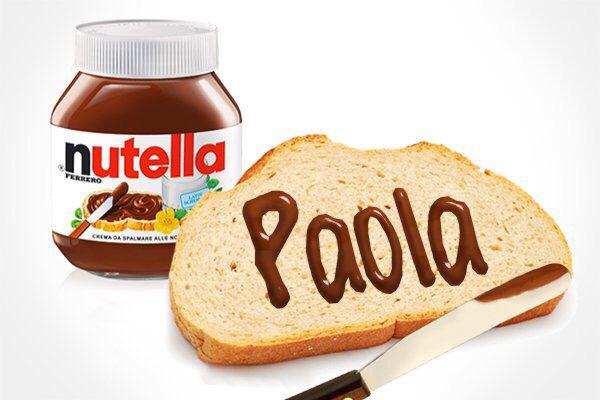 Paola con Nutella