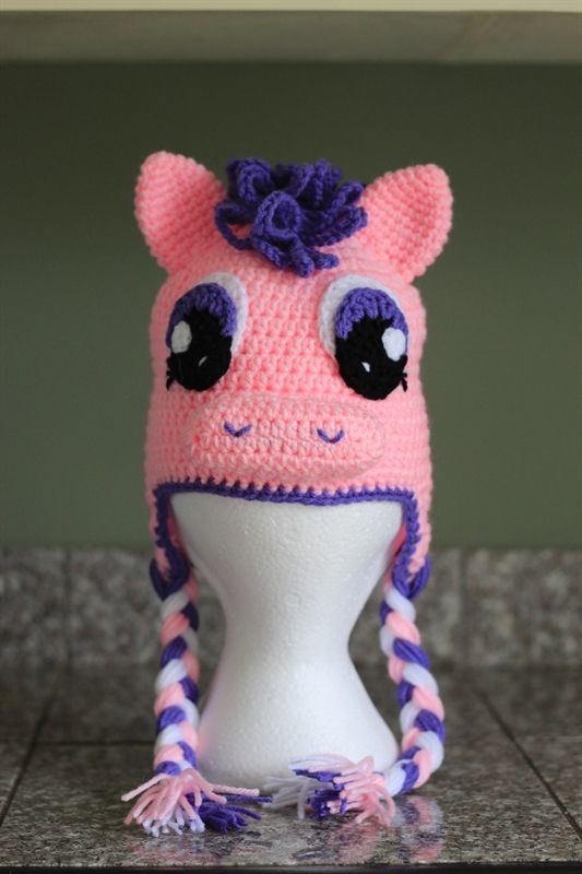 My Little Pony crochet hat
