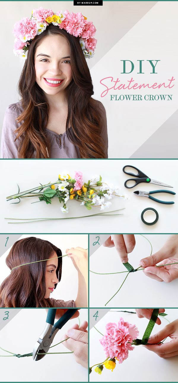 Make a statement by adding a cute flower crown to your hair! Click  to see the tutorial!