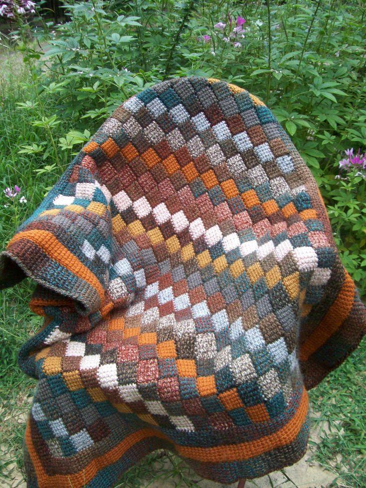 PaPa's tunisian crochet lapghan.