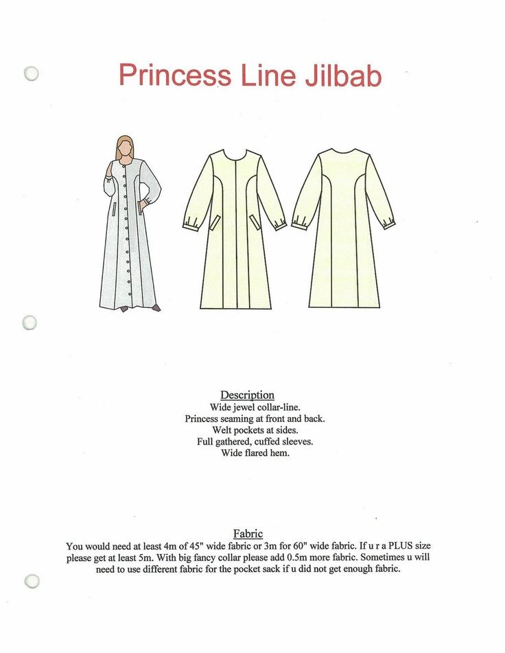 Sew Muslimah: Princess Line Jilbab