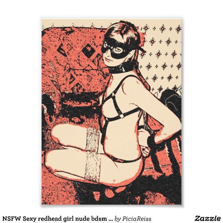 NSFW Sexy redhead girl nude bdsm erotic art nude Photograph