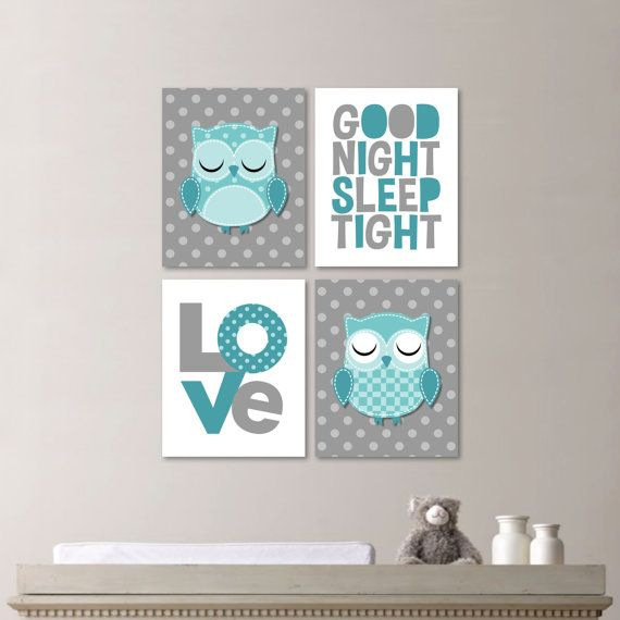 Baby Girl Nursery Art Owl Nursery Art Owl door RhondavousDesigns2