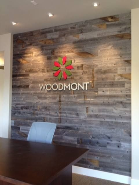 Woodmont office-reclaimed weathered wood