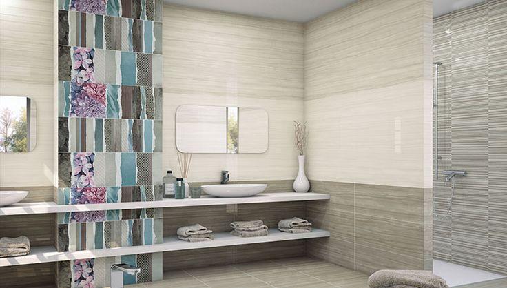 Nuevas ideas para decorar las paredes del ba o azulejos for Paredes con azulejo