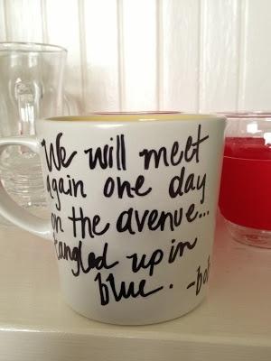 Make your own mug. Could make a wonderful Christmas gift!