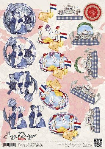 CD10386 Amy Design maps Holland - Amy Design Knipvellen - Amy Design - Hobby-Koopjes.nl