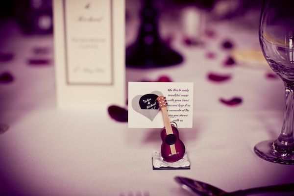 Creative wedding place settings - photo by Phil Barber