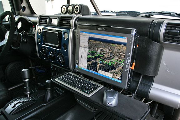 """Motion Computing 16"""" Tablet - wired in with Digital Cellular relay repeater and GPS"""