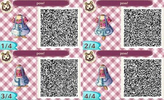 pow pow dress ACNL QR Code
