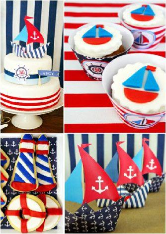 Nautical printable birthday party ideas and decor