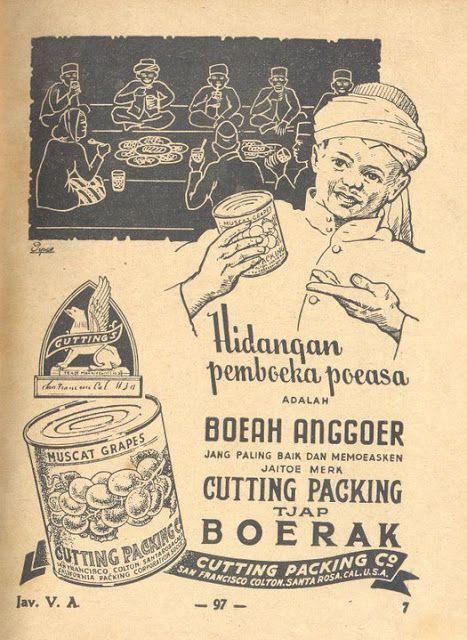 Indonesian Old Commercials: Anggoer Tjap Boerak , Hidangan pemboeka poeasa (grapes)
