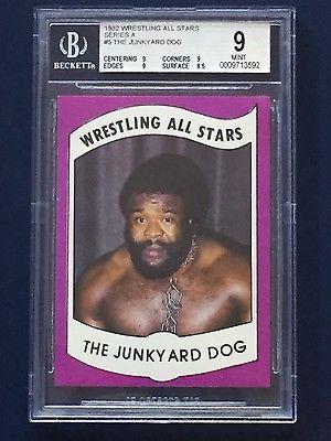 1982 Wrestling All Stars The Junkyard Dog Rookie Card BGS 9 MINT- WWF