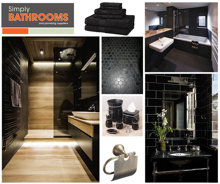 The key to doing black décor well is to use different shades of black to avoid it becoming overpowering. READ our other tips on decorating a black bathroom here… #DreamBathroom #BathroomColours #SimplyBathrooms