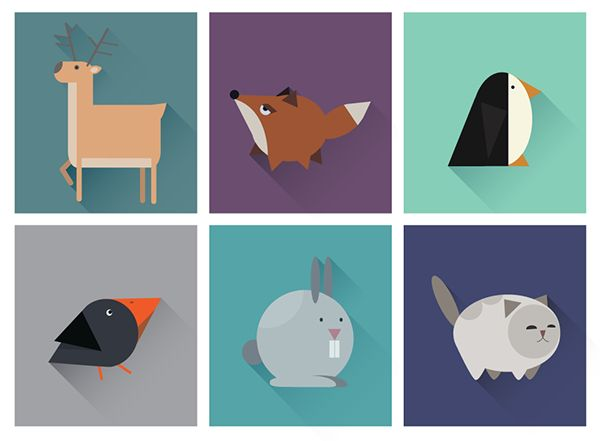 Geometric animals icons on Behance