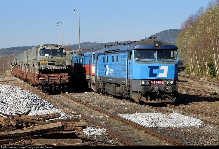 RailPictures.Net Photo: CD 749 018 8 Ceske Drahy CD 749 at Polecnice, Czech Republic by Jaroslav Dvorak