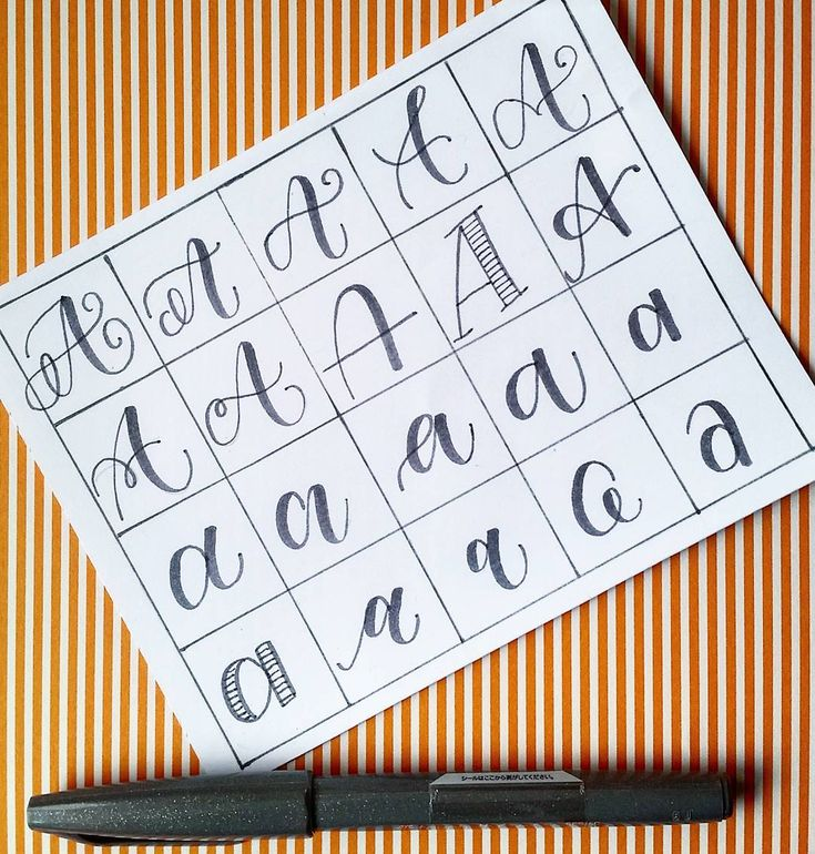 20 ways to write the letter A by @letteritwrite • see also the video of her writing the letters