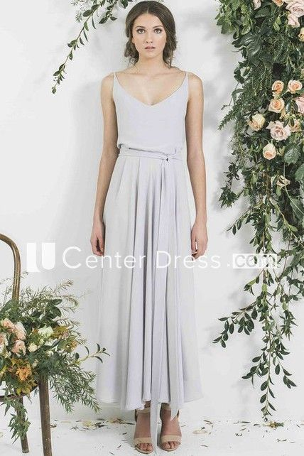 4f8c754da2 Shop Ankle-Length Sleeveless Spaghetti Pleated Chiffon Bridesmaid Dress  Online. Ucenterdress offers tons of high quality collections at affordable  prices.