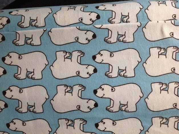 Kinderstoffe - Toller hilco Stoff Eisbären Polar jerseystoff - ein Designerstück von Blausteffi123456789 bei DaWanda