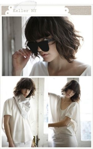 tousled wavy bob with awesome bangsI hate my bangs so I think I should try to make my hair look like this.