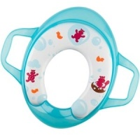 Babymoov Potty Seat With Handles Hippo - A Seat for Maximum Comfort A fun and practical liner seat to help your toddler use the toilet happily: -2 handles to reassure the child and keep him steady -comfortable melton seat with printed PVC for cleanliness -4 anti-slip discs underneath for added safety.