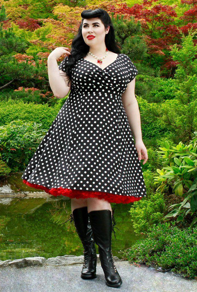 Chrissy Dress - Black and White Dot