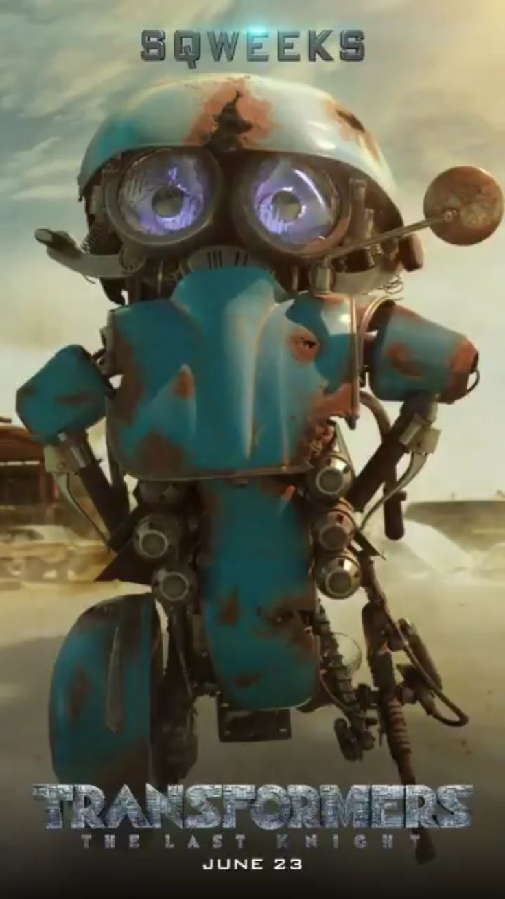 Sqweeks in Transformers: The Last Knight promotional motion poster