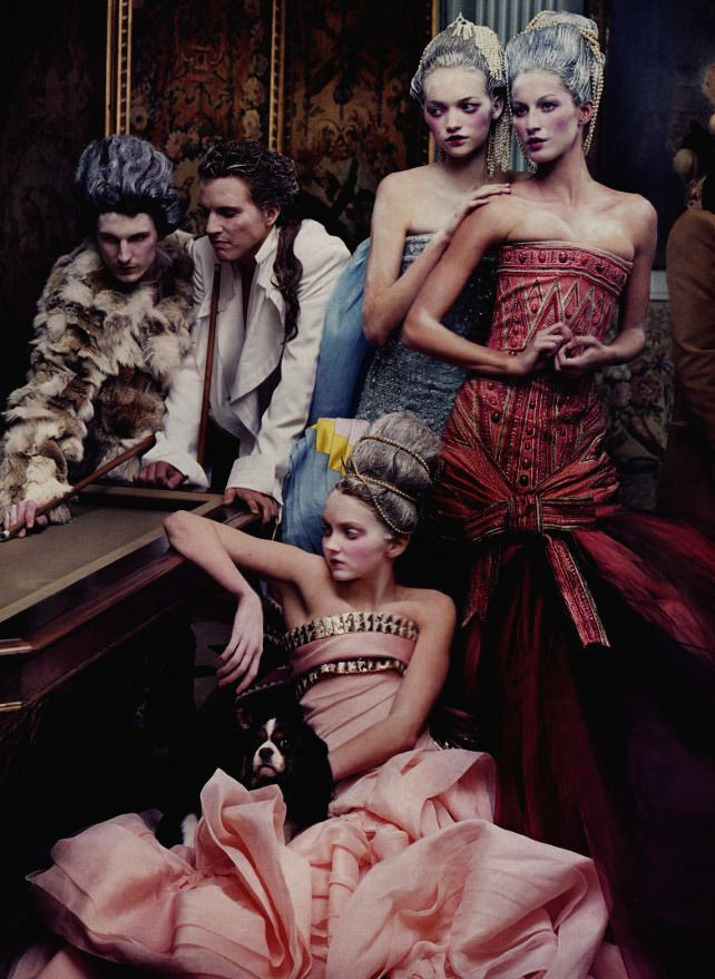 Gemma Ward, Lily Cole, and Gisele Bundchen by Annie Leibovitz for Vogue US