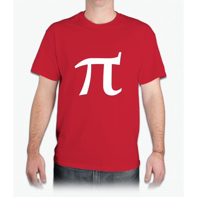 Pi symbol for pi day - Mens T-Shirt