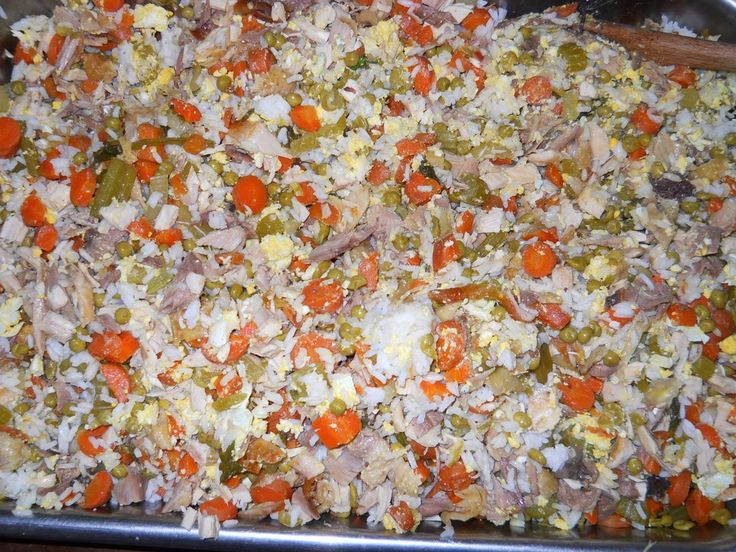 Homemade Dog Food - Forfeit chicken & eggs  & use vegetable stock.