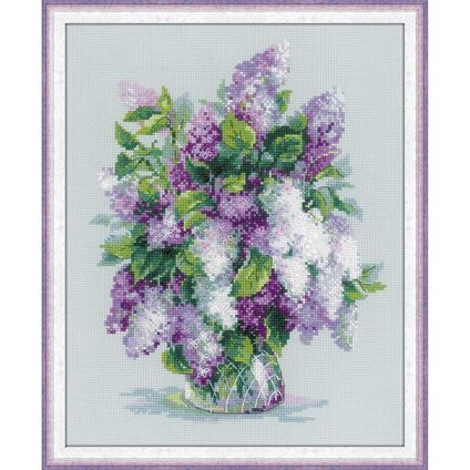 Gentle Lilacs Counted Cross Stitch. #foxcollection #craft #crossstitch #lilac View here - http://foxcollection.innovations.com.au/p/needlework/cross-stitch-floral/gentle-lilacs?Affiliate=FBFC3