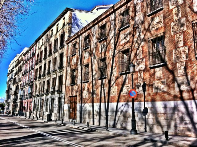 A forest of shadows in a street in Madrid: Ten things to do in Madrid
