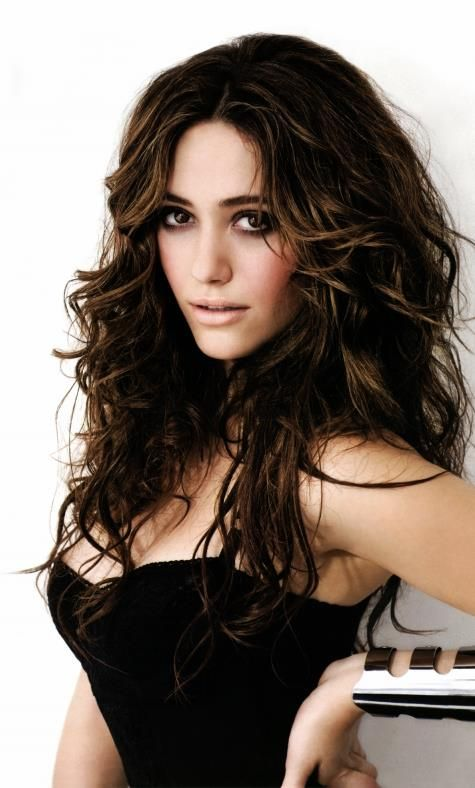 Emmy Rossum ♥ - I love her makeup and her hair. The look is so relaxed yet gorgeous, soft, and sexy