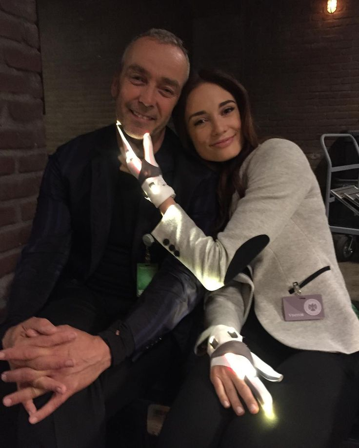 John Hannah and Mallory Jansen - photo from Ann Foley instagram. BTS Agents of SHIELD.