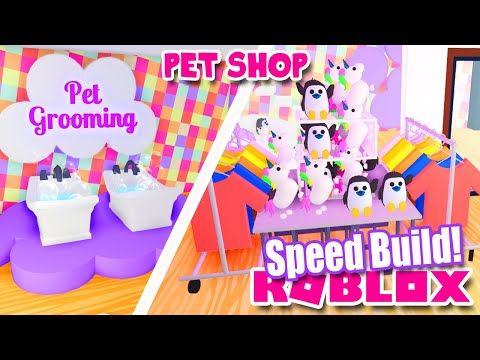 Pet Accessory Clothing Store Speed Build In Adopt Me Roblox Update Youtube In 2020 Pet Store Ideas Roblox Adoption