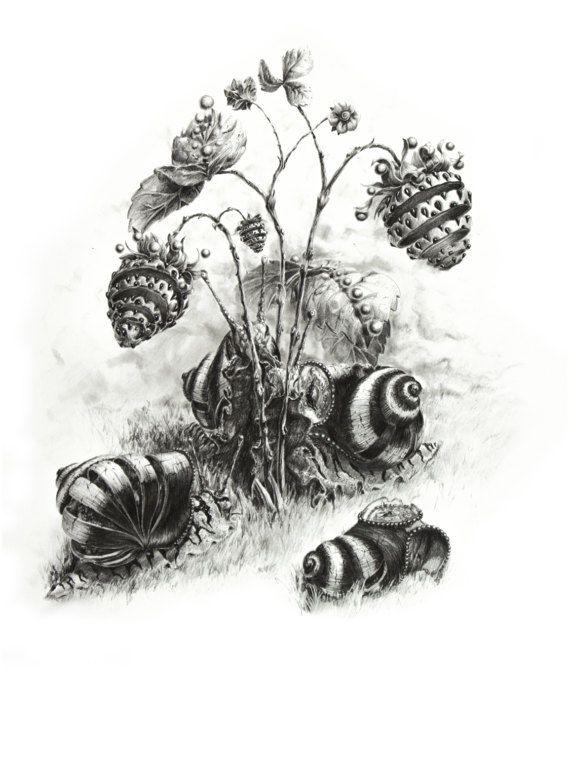Craving For Strawberries. Original medium size by ArtwaveStudio